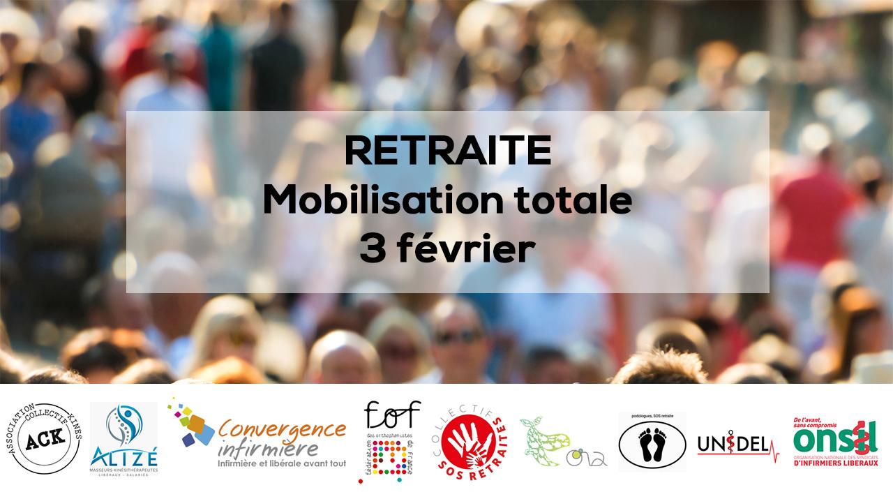 Retraite : mobilisation totale pour le 3 février