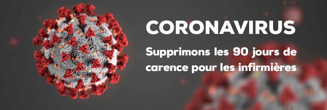 CORONAVIRUS – Supprimons les 90 jours de carence pour les infirmières