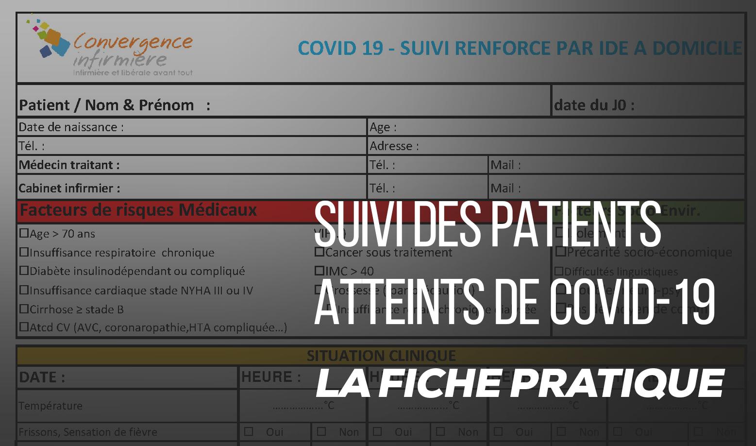 Suivi des patients atteints de covid-19 : la fiche pratique de convergence infirmière